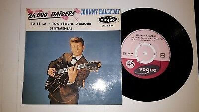 45 T  EP  French  Press JOHNNY HALLYDAY: 24000 baisers  + 3