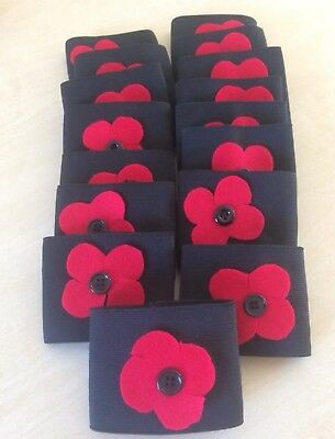REMEMBRANCE DAY POPPY ARMBANDS, Respect,Junior, buy12 get Free Captain Armband