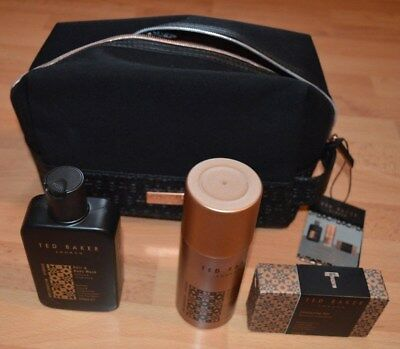bnwt men's Ted Baker Cricklewood body wash gift set ( 3 pieces) with wash bag