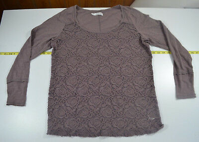 1X Maurices Top Purple Lace  Short Sleeve Long Sleeve Same Fit