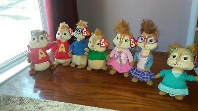 TY BEANIE BABIES Alvin and the Chipmunks Chipettes complete set ... c80976e6dfc8