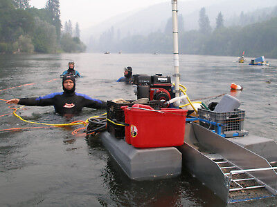 Gold Dredge with Air Compressor for two divers