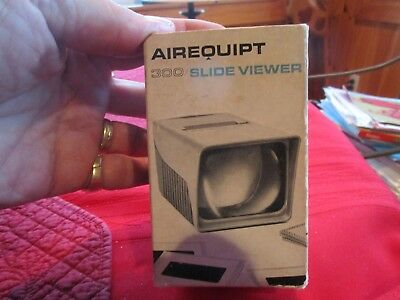 Vintage Airequipt 300 Slide Viewer Box and Directions