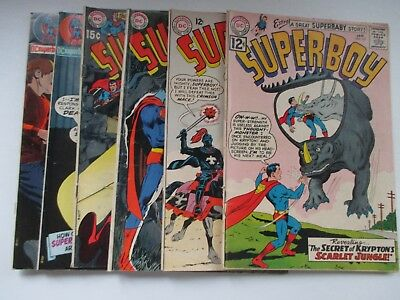 Dc Superboy #102,103,163,166,169,170 1965 Neal Adams Covers
