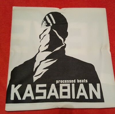"""Kasabian Processed Beats Demo Debut Single,  10"""" Vinyl with flag Ltd 1000 only"""