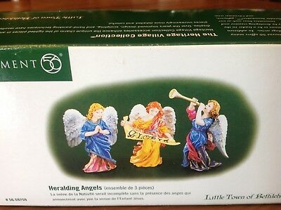 "Department 56 Little Town of Bethlehem""HERALDING ANGELS"" for NATIVITY scene NIB"