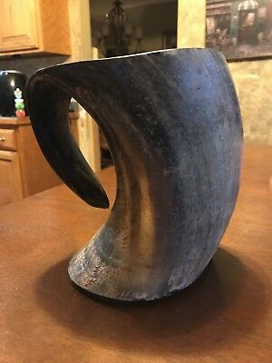 AleHorn Large Handmade Game of Thrones style Drinking Horn Natural Finish