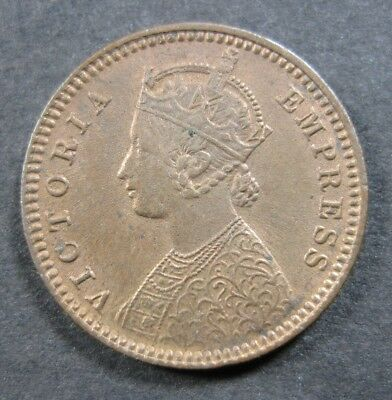 India British 1/12 Anna 1899 BU Red Queen Victoria              World Money Coin