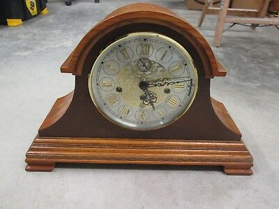 American Heritage Mantel Clock with Kieninger Triple Chime Movement Working NICE