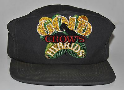 Vintage GOLD CROW'S HYBRID Corn seed Trucker Hat Adjustable Cap