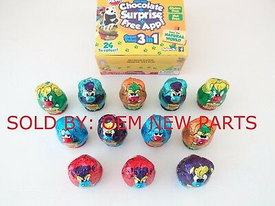 Surprise Egg Yowie Chocolate Collectable Collection 12-Piece Box EXPIRED