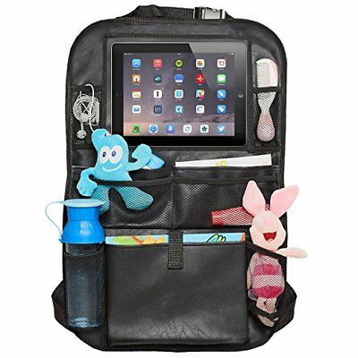 Faux Leather Car Backseat Organizer Touch Screen Folder for Tablets Toys Storage