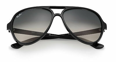 Ray-Ban RB4125 601/32 59-13 CATS 5000 Light Grey Gradient Lens with Black Frame