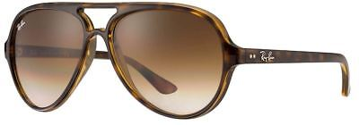 Ray-Ban RB4125 710/51 59-13 CATS 5000 Light Brown Gradient Lens + Tortoise Frame