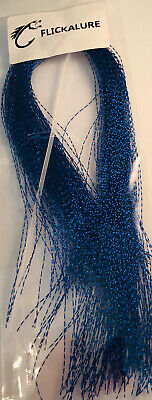 Hook'em Tinsel Flash Hair Dark Blue- Fly Tying Materials, Snapper, jig assist