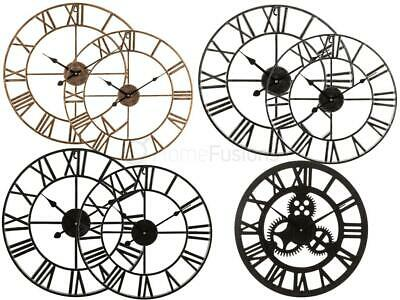 Livivo Roman Wall Clock Traditional Vintage Metal Roman Numeral Skeleton 40/60Cm