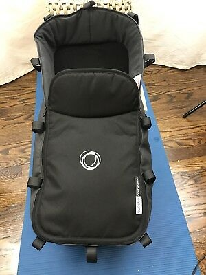Bugaboo Cameleon3 Bassinet, Charcoal Gray, Wooden Base, Mattress, and Cover
