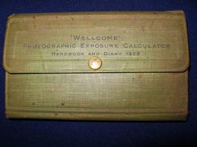Vintage 1929 Burroughs WELLECOME Exposure Calculator Handbook and Diary