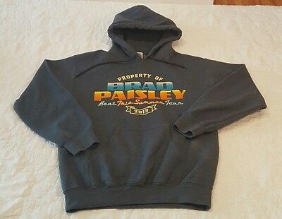 "Brad Paisley ""Beat This Summer"" Tour 2013 Concert Hooded Hoodie Sweatshirt Sz. S"