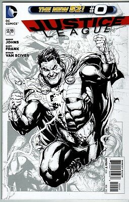 Justice League #0 (New 52) Gary Frank 1:100 Black & White Variant
