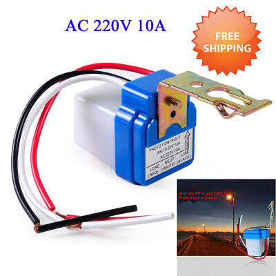 AC 220V Automatic Auto On Off Street Light Switch Photo Control Sensor for ISN w