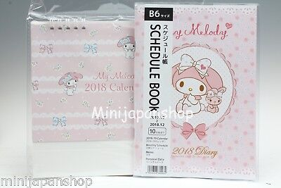 New Sanrio My Melody 2018 Schedule book & Calendar Japan US Seller