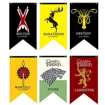 125x75CM Game Of Thrones1 Tournament Welcome Decor Flag Poster Fabric Toy