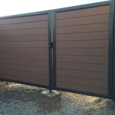 RUBICAB Swing Gates with Aluminium Frames and DECKO Composite Boards