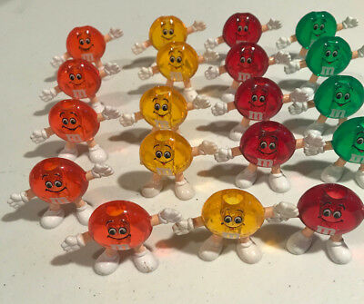 Lot of 19 VINTAGE M&M'S CANDY CHRISTMAS TREE LIGHT REPLACEMENT COVERS -4 Colors