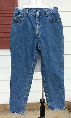 Vintage Levis 550 Womens Size 10 Relaxed Fit Tapered Leg Medium Wash Mom Jeans