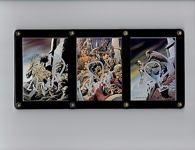 Bernie Wrightson Series Two More Macabre Signed Cards in Display