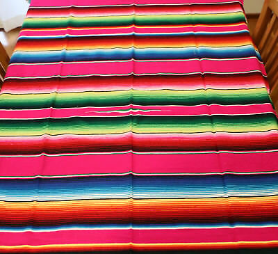 Mexican Sarape Green, Blanket, Rug, Picnic, Throw, Tablecloth, Hot Rod, Yoga