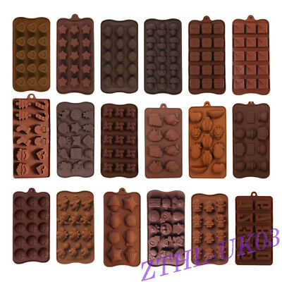 25 Shapes DIY Silicone Chocolate Mould Cake Decorating Candy Cookies Baking Tool