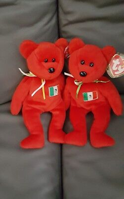 Ty Beanie Baby 2 Osito - MWMT (Bear Mexico US Country Exclusive 1999)
