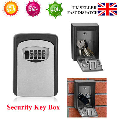 Quality 4 Digit Outside High Security Wall Mounted Key Safe Box Code Secure Lock