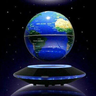 LED Light Floating World Map Globe Magnetic Levitation Home Room Decor Gift Xmas