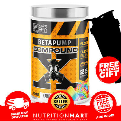 Max's Betapump Red Alert Pre Workout 60 Serves Nitric Oxide Energy Booster