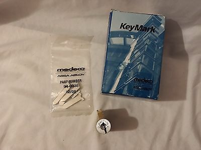 Medeco Keymark Open Series KIK Cyl 26D w/1 Used Key For Keying and/or Practice