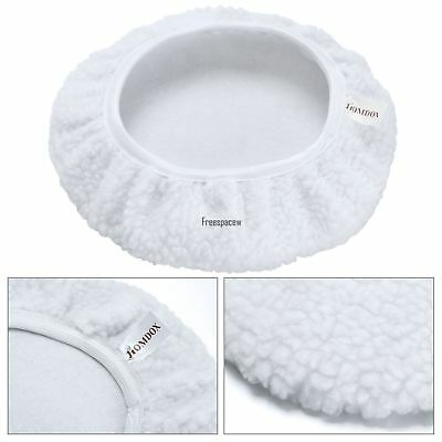 "9-10"" Inch Bonnet Polisher Pad Cover Polishing Buffing Car Buffer Waxer White"