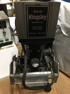 Kingsley AM101 Hot Stamping Machine W/ Foot Pedal and Other Accessories