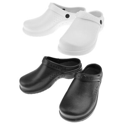 Kitchen Clogs Mens Womens Chefs Shoes Safety Footwear Garden Slip On Work Shoes