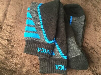 Mens Quality Black Royal Merino  Wool Blend Ski Socks Nevica 12+Uk 46+Eu