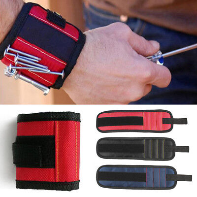 Portable Magnetic Wristband Pocket Toolkit Belt Screw Scissor Hold Work Bracelet