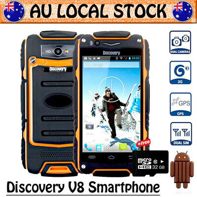 Orange Discovery V8 Unlocked Android Rugged 3G Smartphone Tough Mobile Phone+32G
