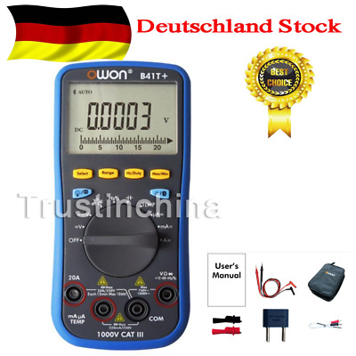 Owon B41T+ True-RMS AC/DC Datalogging Digital Multimeter 750VAC/1000VDC Bluetoot