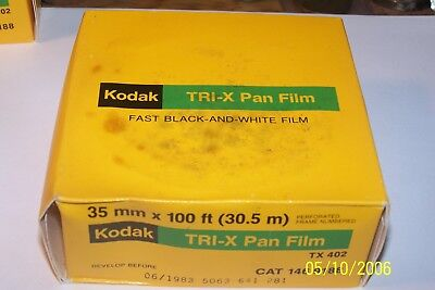 Vintage Kodak TRI X Pan Film 100 ft -  35mm Fast Black White - Expired, Sealed