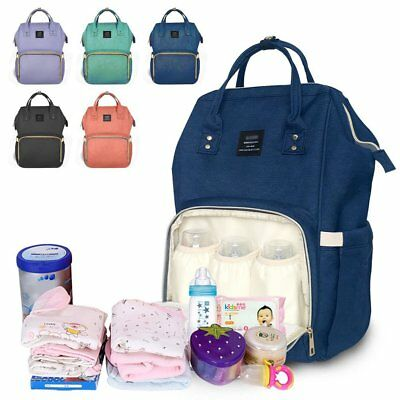 Diaper Nursing Mummy Bags Large Capacity Baby Nappy Bag Multi-Function Backpack