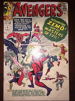Avengers #6 1st App of Baron Zemo and Masters of Evil