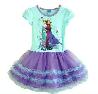 Girl Frozen Dress Costume Disney Princess Queen Elsa Party Birthday size: 1-7Yrs