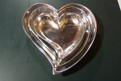 Silver Heart Tray Set (candy dishes)